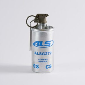 Continuous Discharge Grenade in CS (ALSG272CS) and Smoke in White (ALSG972W), Red (ALSG972R), Green (ALSG972G) & Violet (ALSG972V)