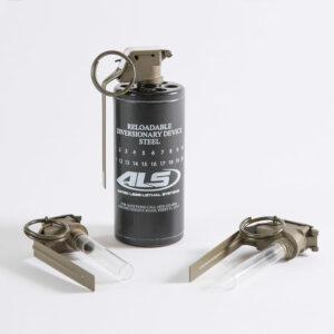 ALSDDTS-4140 - Diversionary Device Training System (1 UN Blue 4140 Body, 5 ALSM201T Training Fuzes) - Minimum Order Qty is 1