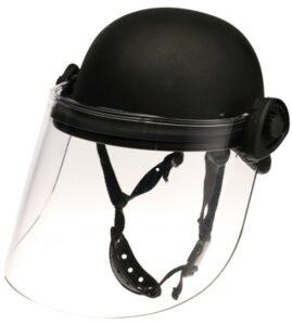 DK5-X.250AF - Field-mount riot face shield, 8 inch shield length