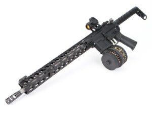 AR with X-15 Skeletonized 50 Round Drum