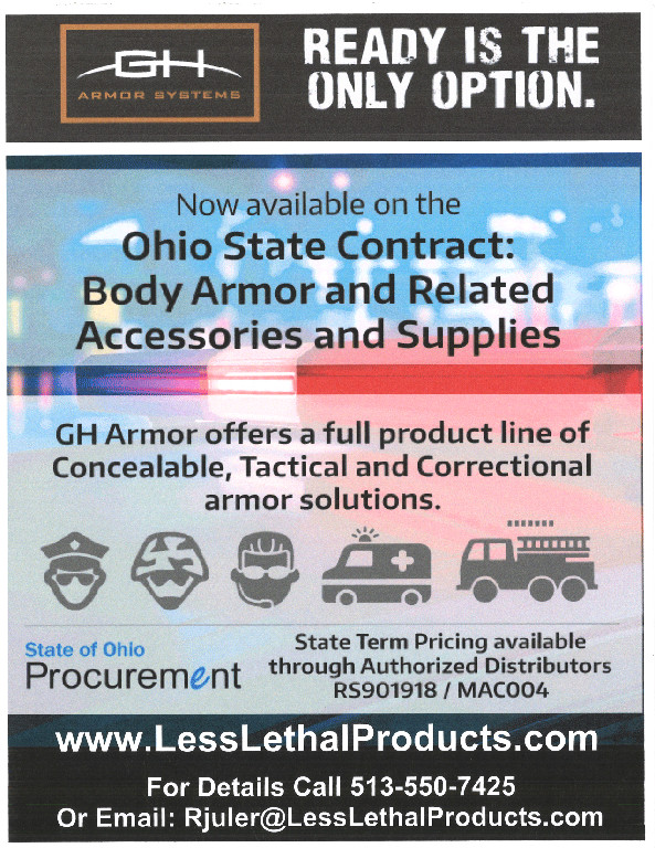 GH Armor Systems Is Now Available On The Ohio State Bid Contract