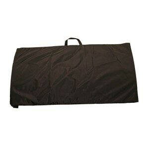 """BS-2036-COV - Protective black nylon fabric cover for riot/capture shields that measure 20"""" x 36"""""""