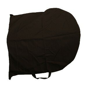 """BS-24R-COV - Protective black nylon fabric cover for round riot shields with a diameter of 24""""."""
