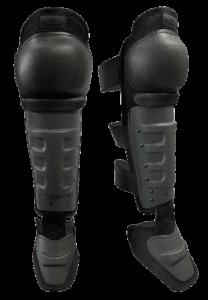 DFX2 Hard Shell Knee Shin Guards with non-slip knee caps