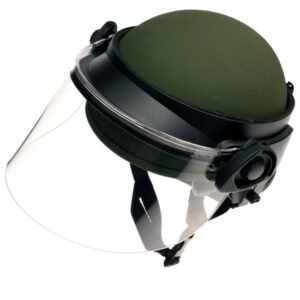 DK6-H.150S - Universal Field-Mount Polycarbonate Face Shield, 6 inch shield length allows for gas mask clearance
