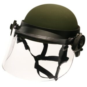 DK6-X.250AFS - Universal Field-Mount Polycarbonate Face Shield, 6 inch shield length allows for gas mask clearance