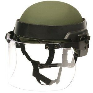 DK7-X.250AF - Universal Field-Mount Face Shield designed to fit most PASGT & ACH/MICH style combat helmets (not including helmets w/ rails)